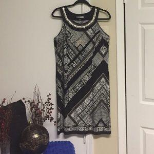 Sandra Darren dress.Size 10.Awesome neckline.